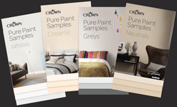 Crown pure paint samples