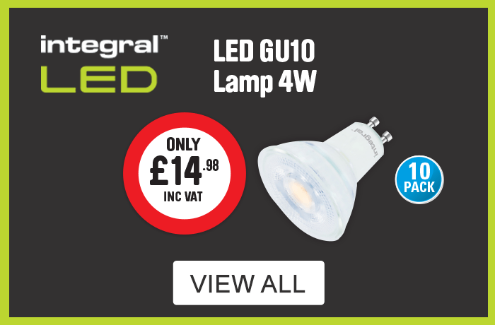 Integral LED. LED GU10 Lamp 4W 10 pack only £14.98. View all