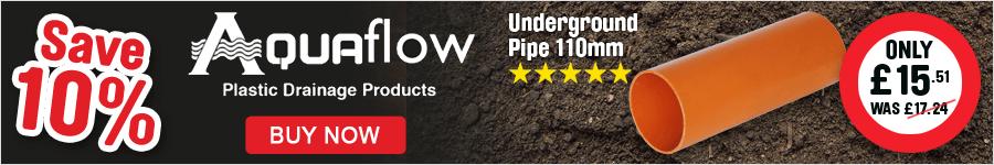 Save 10% On Aquaflow Underground Pipe