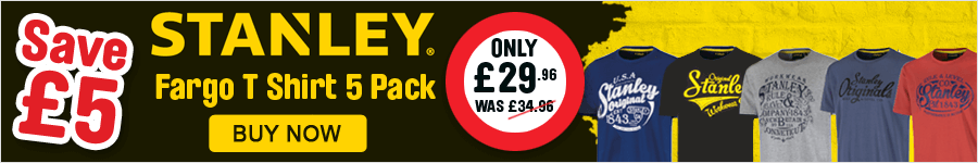 Save £5 on this Stanley T-Shirt 5 Pack