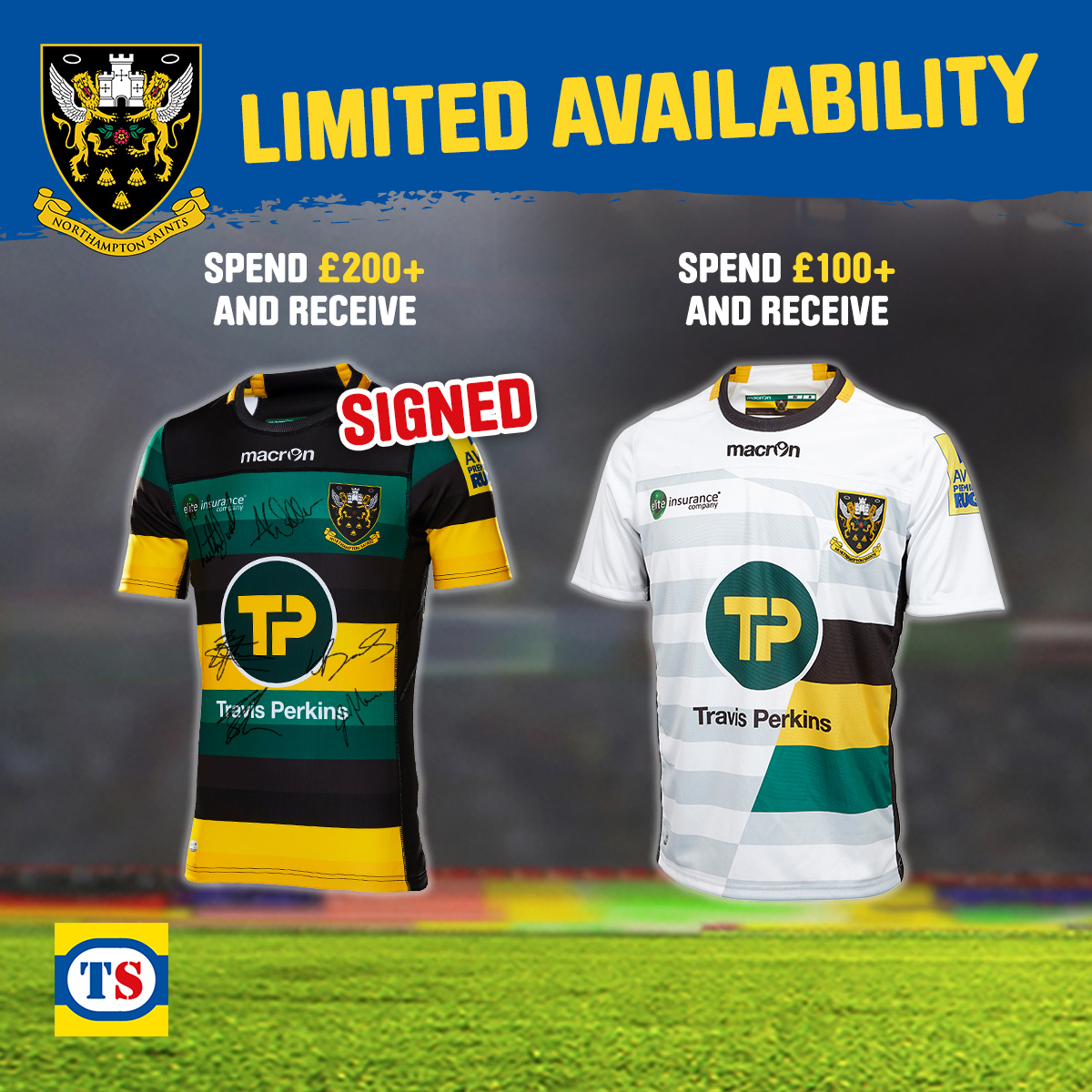Northampton Saints Regional Giveaway - Terms & Conditions