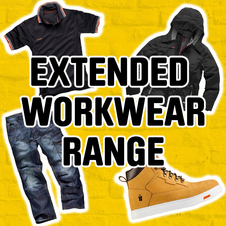 Extended workwear range online