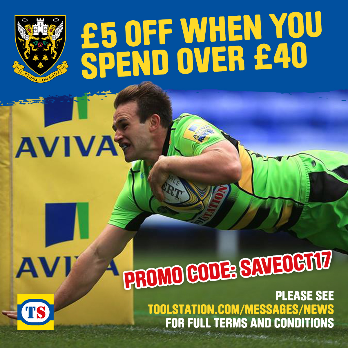 October Northampton Saints Voucher Terms & Conditions