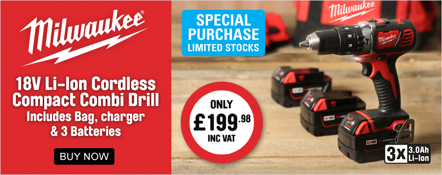 Milwaukee 18V Cordless Combi Drill Only £199.98