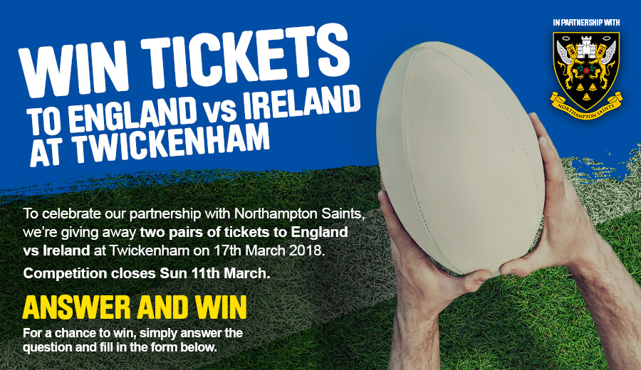Win England v Ireland Rugby Tickets