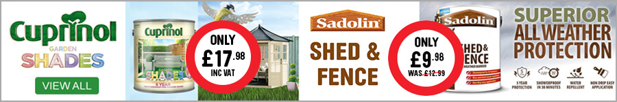 "Painting & Decorating - Cuprinol garden Shades & Sadolin Shed & Fence"" width="