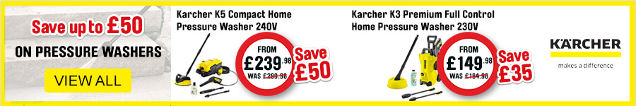Karcher save up to £50 on pressure washers