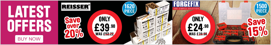 Screws and Fixings latest offers - Reisser save 20% & Forgefix save 15%