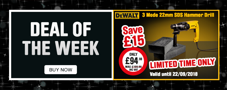 Deal of the Week. Dewalt 3 Mode 22mm SDS Hammer Drill. limited time only