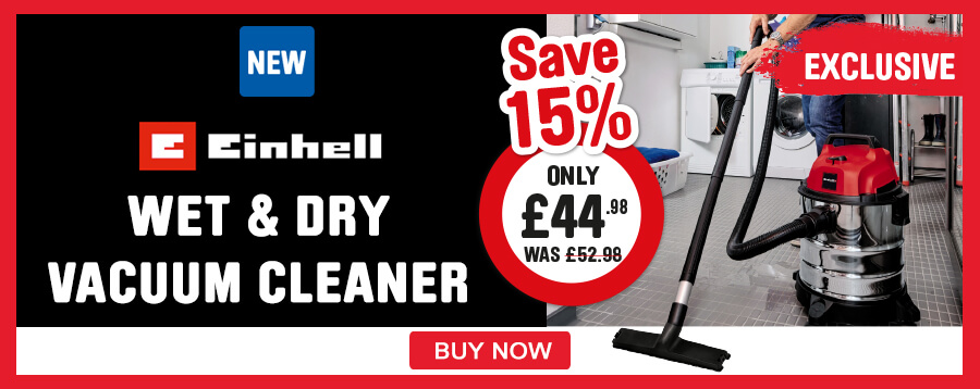 Exclusive Einhell Wet & Dry Vacuum Cleaner save 15%