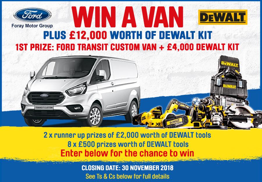 Win a Van and DEWALT Products Worth £12,000