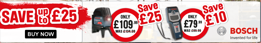 Save up to £25 on Bosch Hand Tools