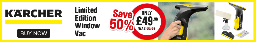 Karcher. Limited Edition Window Vac. Save 50%. Only £49.98.