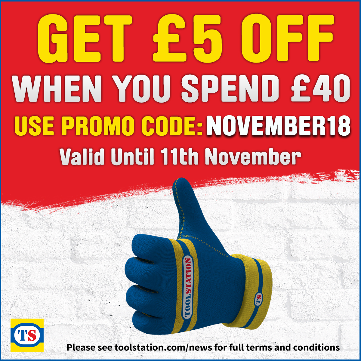 Promo Terms & Conditions - £5 off £40