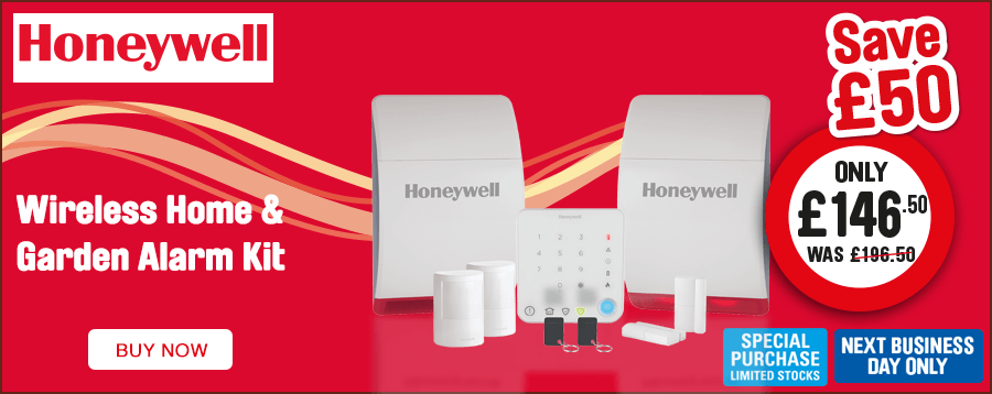Honeywell Wireless Home & Garden Alarm Kit Save £50. Only £146.50