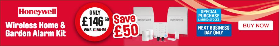 Honeywell Wireless Home & Garden Alarm Kit Only £146.50. Save £50. Limited stocks.