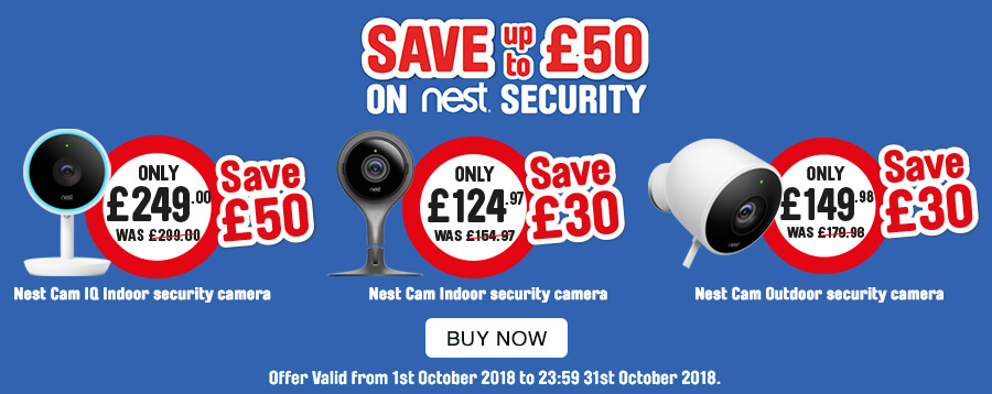 Save up to £50 on Nest Security