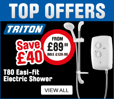 Top Offers. Triton T80 Easi-Fit Electric shower, Save £40
