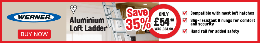 Werner Aluminion Loft Ladder Only £54.98 save 35%