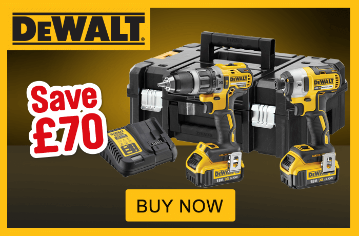 Dewalt 18V XR Cordless Brushless Combi Drill & Impact Driver Twin Pack. Only £279.98 was £349.98 Save £70. Buy Now