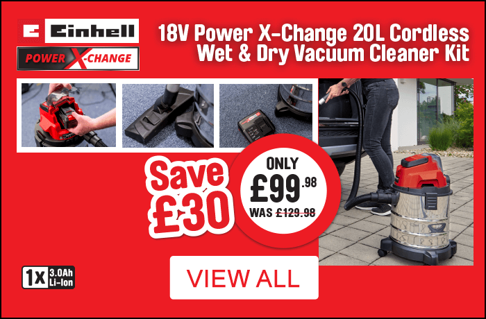 Einhell Cordless Wet and Dry Vacuum Cleaner Kit Save £30 only £99.98. View all