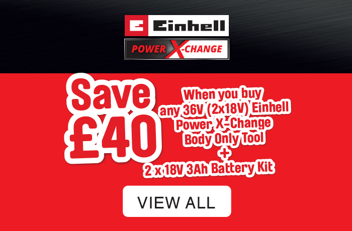 Einhell multi deal save £40, when you buy body only + battery kit. Add both codes to your basket for discount. View all
