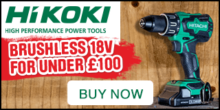 Hikoki 18V Li-Ion Cordless Brushless Combi Drill. Only £99.98 was £139.98 Save £40. Buy Now