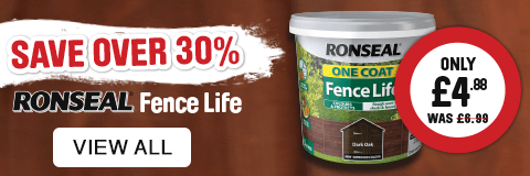 Save over 30% on Ronseal Fence Life. View all