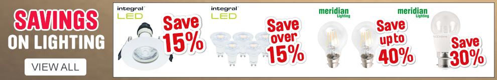 Savings on Lighting. View all