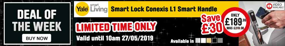 Save £30 on these YALE Smart Lock Conexis L1 Smart Handles  - Limited Time Only