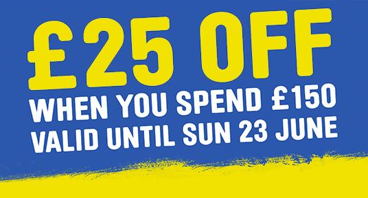 June Promo £25 off £150 Spend