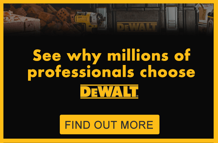 See why millions of professionals choose DeWalt - find out more
