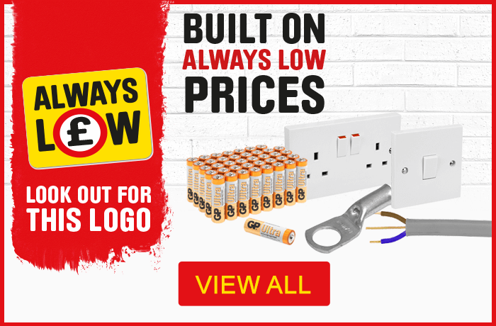 Always low prices on electrical products - view all