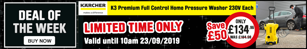 Save £50 on this Karcher K3 Premium Full Control Home Pressure Washer 230V - Limited time only