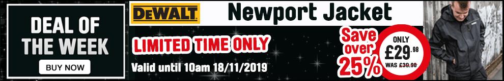 Save 25% on the Dewalt Newport Jacket - Limited Time Only