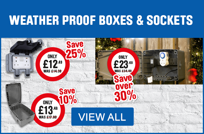 Weatherproof Boxes and Sockets. View All
