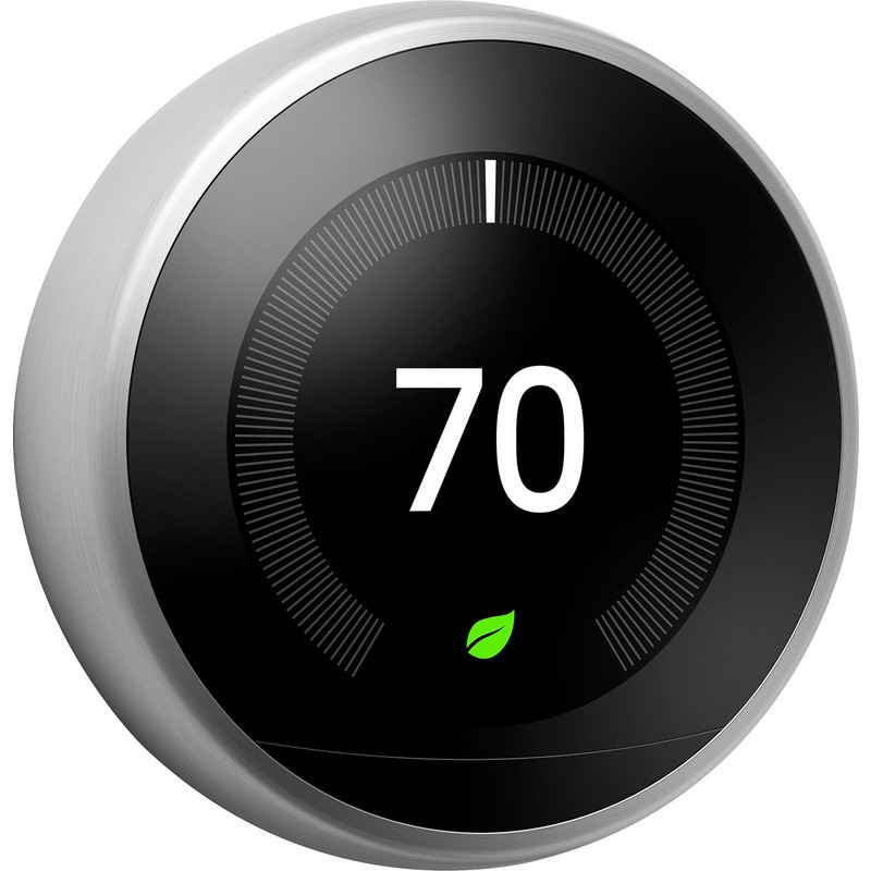 Google Nest Smart Learning Thermostat Stainless