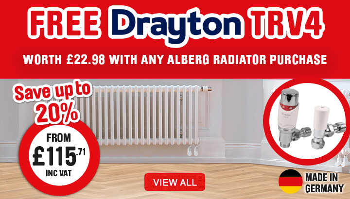 Free Drayton TRV4 worth £22.98 with any Alberg Radiator Purchase. View All