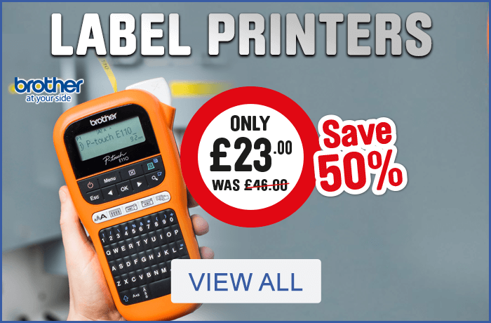 Save 50% on Label Printers - View All