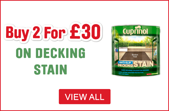 Cuprinol 2 for £30 Decking Stain - View All