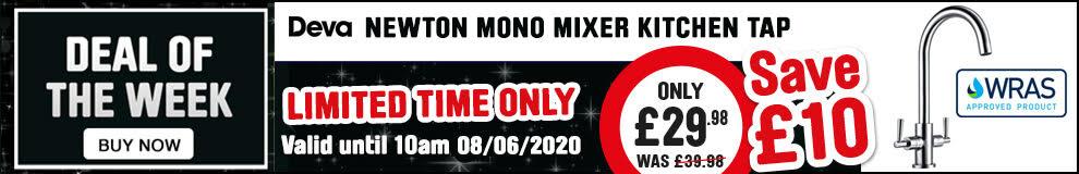 Save £10 on Deva Newton Mono Mixer kitchen Tap- Limited Time only