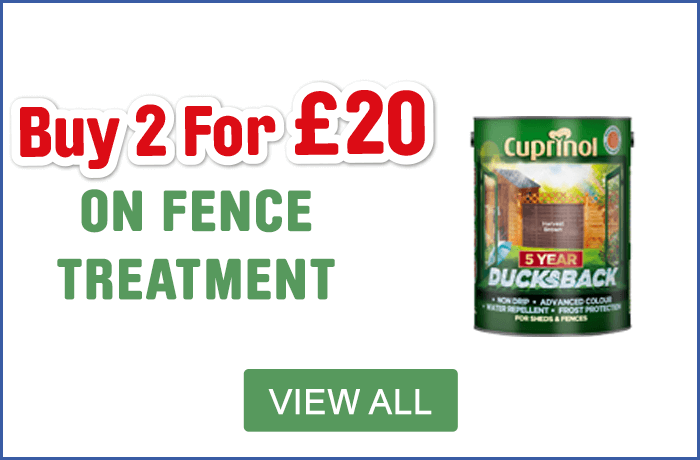 Cuprinol 2 for £20 Shed & Fence Treatment - View All