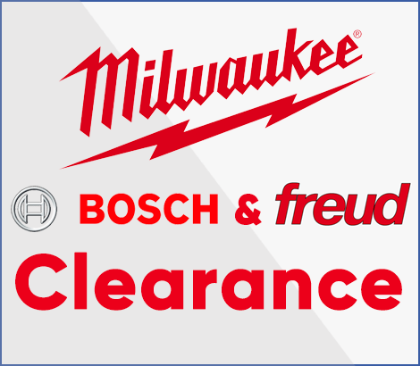 Milwaukee Bosch and Freud Clearance - View All