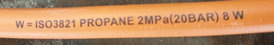 LPG Gas Hose Correct Code