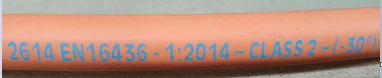 LPG Gas Hose Incorrect Code