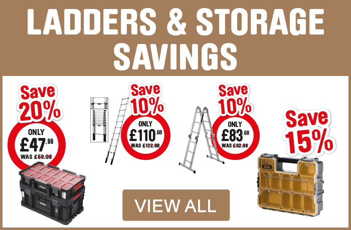 Ladders and Storage Savings. View All