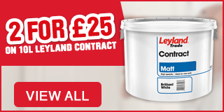 2 FOR £25 ON 10l leyland Contract Paint. View All
