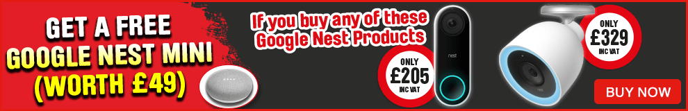 Free Google Nest Mini when you buy certain Nest Product.  View All