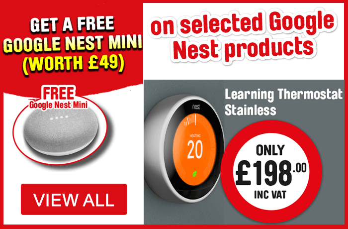 Nest Learning Thermostat with FREE Google Nest Mini- View All