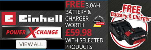 Einhell Power X-Change - Free Battery and Charger with selected lines - View All